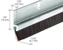 commercial door weather stripping. aluminum and nylon door 11/32\ commercial weather stripping t