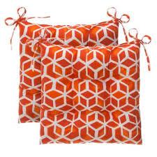 orange outdoor cushions patio