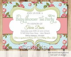 Kids Tea Party Invitation Wording Baby Shower Tea Party Invitations Wording