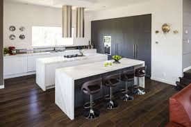 modern kitchen island design. Amazing Design Of The Brown Wooden Floor Kitchen Areas With White Modern Cabinets Ideas Island