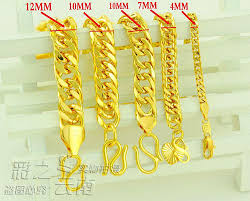 Gold Chain Width Size Chart 2019 Classic Old Couple Models Whip Chain Bracelet Gold Plated Bracelet High Simulation Sands K Gold Brac From Mushan 16 29 Dhgate Com