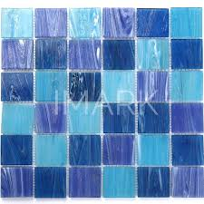 blue square glass swimming pool tile mosaic china whole supplier