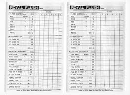 kismet game sheets 1960s royal flush poker cubes game crisloid dons game closet