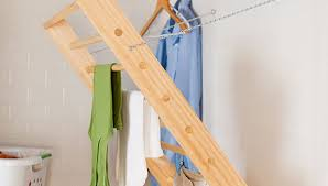 Pull Out Coat Rack FoldAway Laundry Room Drying Rack 66