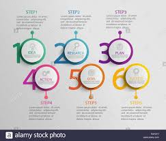 Chart Paper Presentation Paper Infographic Template With 6 Circle Options For