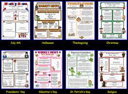Monthly Newsletter Template For Teachers Custom Classroom Newsletter Printable Sample Home