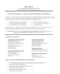 Resume Sample Technical Image Photo Album Project Manager Sample