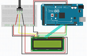 interface an lcd an arduino circuit diagram