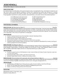 Chef Resume Objective Free Resume Templates 2018