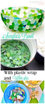 create a bowl using seaglass