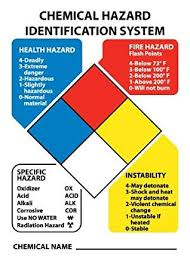 Nmc Chart Nmc Hmk3 Chemical Hazard Identification System System Pack