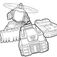 Small Picture Transformers Rescue Bots Coloring Pages and Promo Still