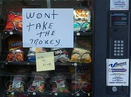 Stuck Vending Machine Adorable 48 Notes That Were Actually Found On Vending Machines CollegeHumor