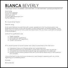 Cover Letter For Courier Driver Job Eursto Com
