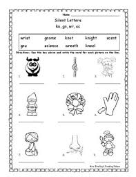 Students work on starting and finishing words. Silent Consonant Letter Worksheet Gn Kn Wr Sc By Mrs Bradleys Reading Palace