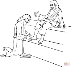 Small Picture Jesus Washing Feet coloring page Free Printable Coloring Pages