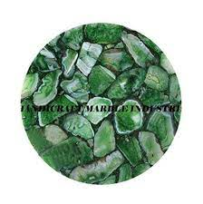Hilitchi green agate stone tumbled stones for plants cacti & succulents bedding, vase. Amazon Com Green Agate Table Top Round Table Side Table Coffee Table Patio Table Kitchen Table Hallway Table Agate Stone Table Home Decor Handmade