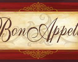 Bon Appetit Wall Decor Plaques Signs French Cafe Sign Etsy 99