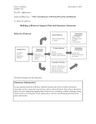 Behavior Analysis Samples POSITIVE BEHAVIOR SUPPORT PLAN Document Sample Positive Behavior 18