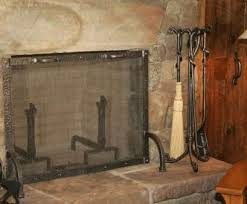 wire mesh screen fireplaces creative morris l photos