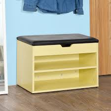 haotian fsr25 n wooden shoe cabinet 2 tiers shoe storage bench shoe rack