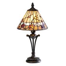bernwood small tiffany glass table lamp
