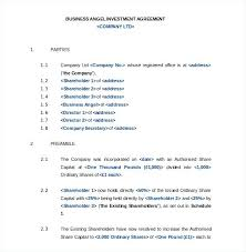 Investment Agreements Business Agreement Template Small – Appnews