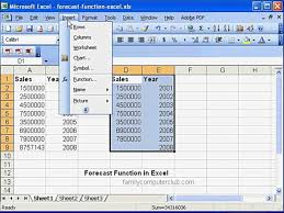 forecast model in excel forecast function in ms excel youtube