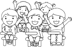 Small Picture At The School Children Coloring Page Wecoloringpage