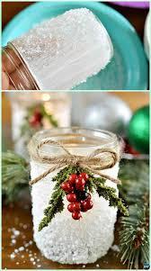 diy epsom salt snowy mason jar instruction diy mason jar lighting craft ideas