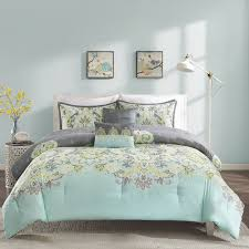 bedroom teal yellow and grey bedding blue aqua green gray baby exotic bohemian comforter set