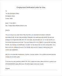 Editable Employment Verification Letter Sample For Visa Request