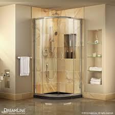 prime sliding shower enclosure black base