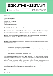 executive assistant cover letters executive assistant cover letter example tips resume genius