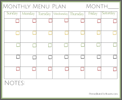 Monthly Dinner Planner Free Printable Monthly Menu Plan Monthly Meal Planner