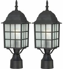 Nuvo Lighting 60 4909 Nuvo Lighting 60 4909 Adams One Light Post Lantern 100 Watt A19 Max Frosted 2