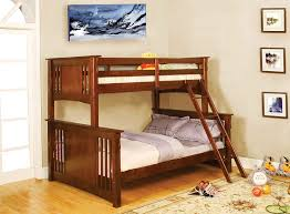 Amazon.com: Furniture of America Concord Bunk Bed, Twin/Full, Dark Oak:  Kitchen & Dining