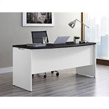 desk office. executive office desk in white and gray