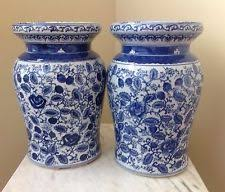 ceramic garden seat. pair of blue and white ceramic garden seats side tables seat