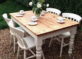 small and functional shabby chic round kitchen table for