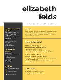 canva modern resume templates yellow grey boxes modern resume templates by canva