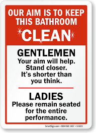 Office Courtesy Signs  Office Etiquette SignsPrintable Keep Bathroom Clean Signs
