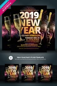 New Year Party Flyer Corporate Identity Template
