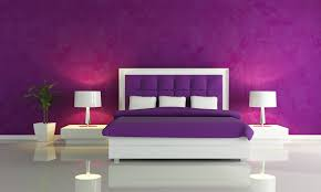 Purple Walls in a Purple Bedroom