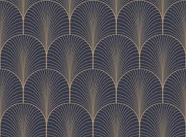art deco wallpaper blue