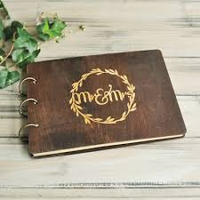 Wedding Guest Book Mr Mrs Rustic Wedding Guest Book Ideas Wood Wedding Guestbook Custom Engraved Guest Book Alternativ
