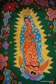 FF70 Dark Green Our Lady of Guadalupe Mexico Manget Mexican ... & FF70 Dark Green Our Lady of Guadalupe Mexico Manget Mexican Religious  Flowers Cotton Fabric Quilt Fabric Adamdwight.com