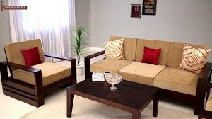 wooden sofa set designs. Wooden Sofa Set : Buy Winster 3+1+1 Seater Online - Street Designs E