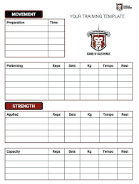 Workout Weight Training Program Template Lifting Schedule