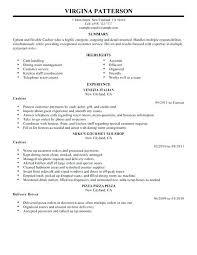 Resume Examples For Cashier Insurance Company Cashier Resume Resume